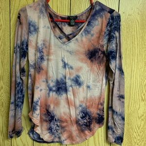 tye dye long sleeve shirt